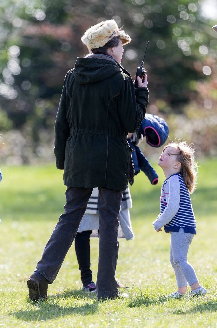La princesse Anne et Mia Tindall à Gatcombe Park, le 25 mars 2017