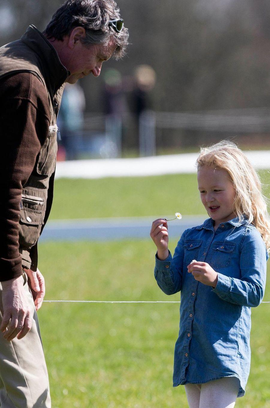 Timothy Laurence et Savannah Phillips à Gatcombe Park, le 25 mars 2017