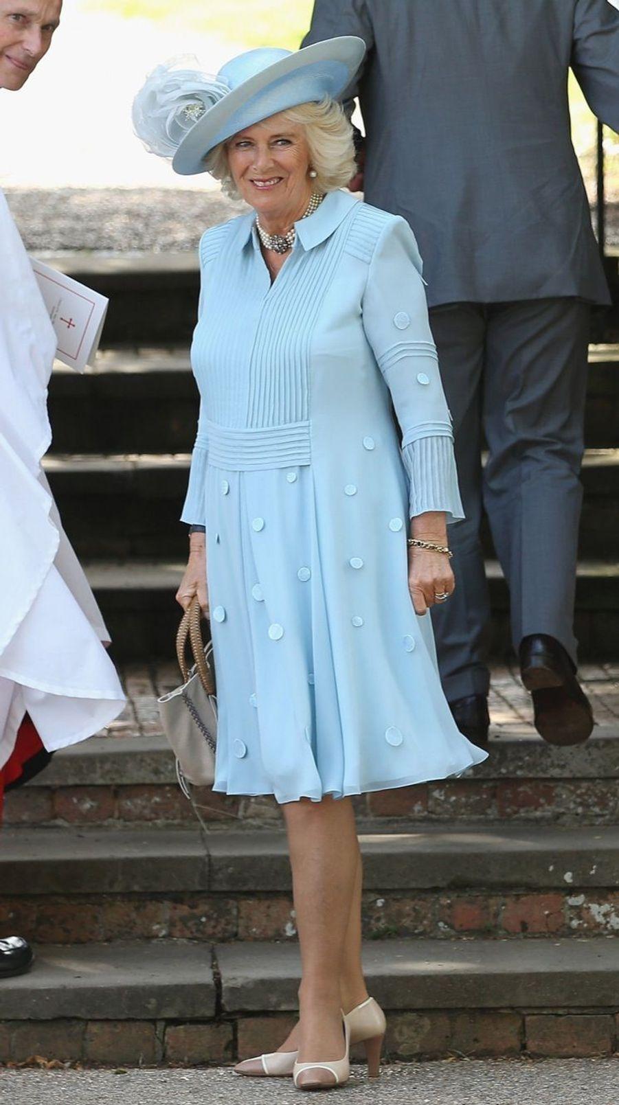 Camilla au baptême de la princesse Charlotte