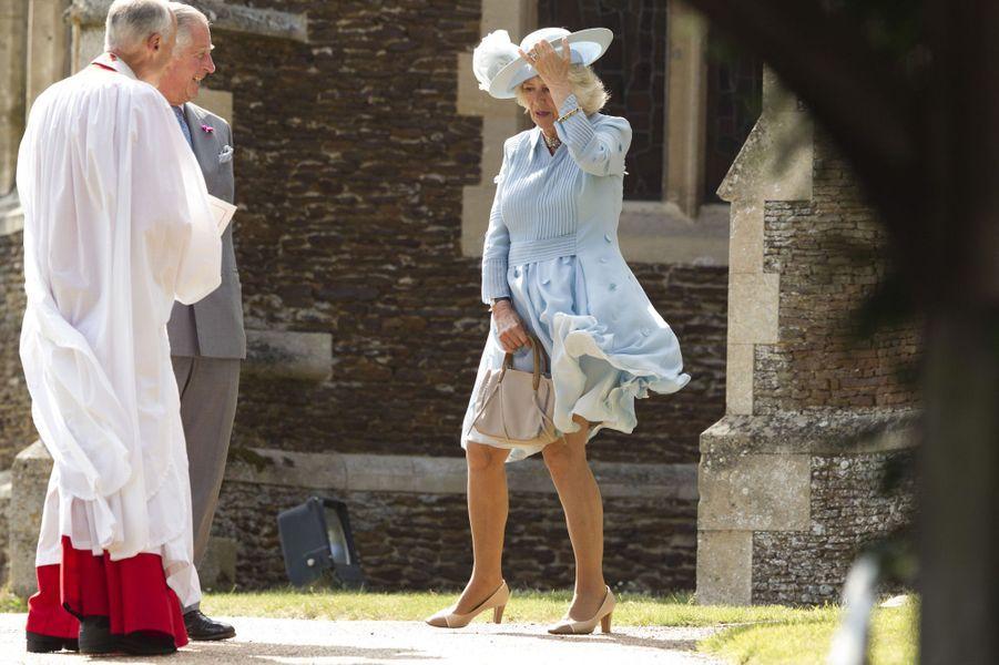 Charles et Camilla au baptême de la princesse Charlotte
