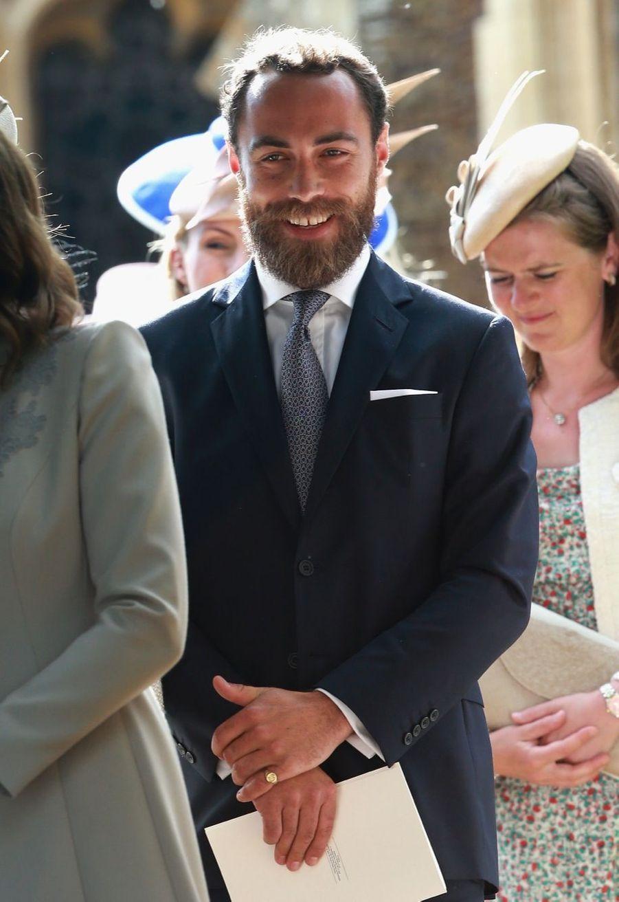James Middleton au baptême de la princesse Charlotte