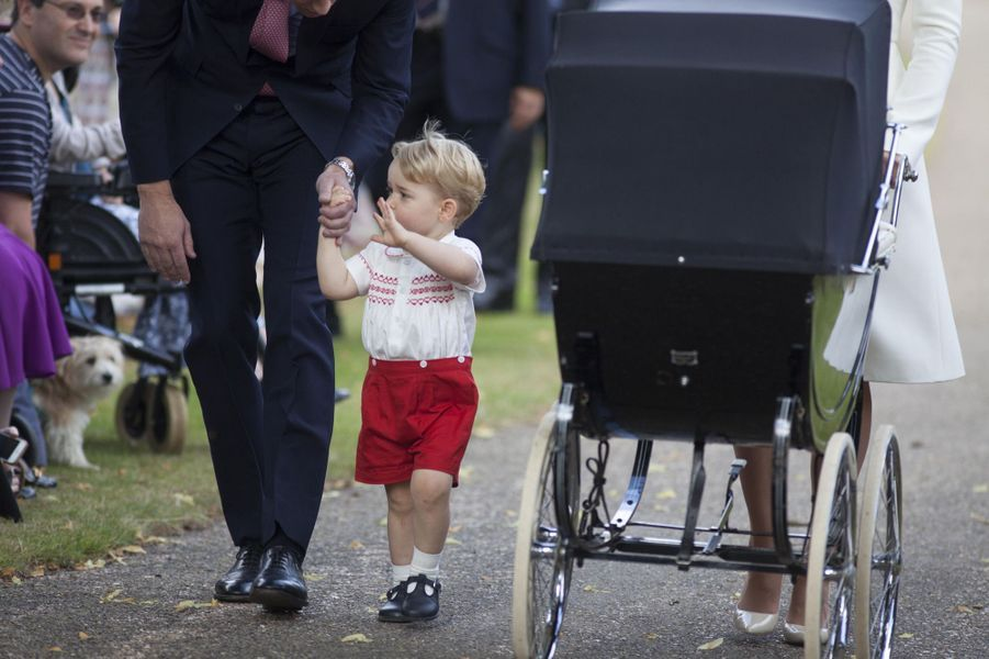Le prince George au baptême de la princesse Charlotte