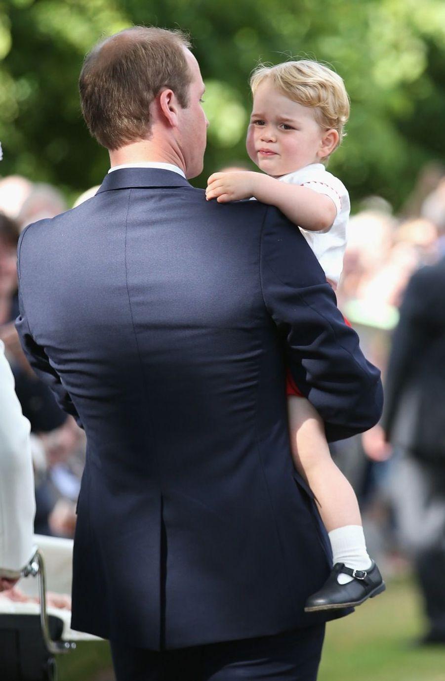 William et George au baptême de la princesse Charlotte