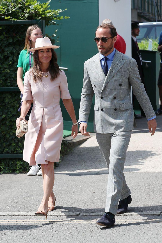 Pippa et James Middleton à Wimbledon le 8 juillet 2019