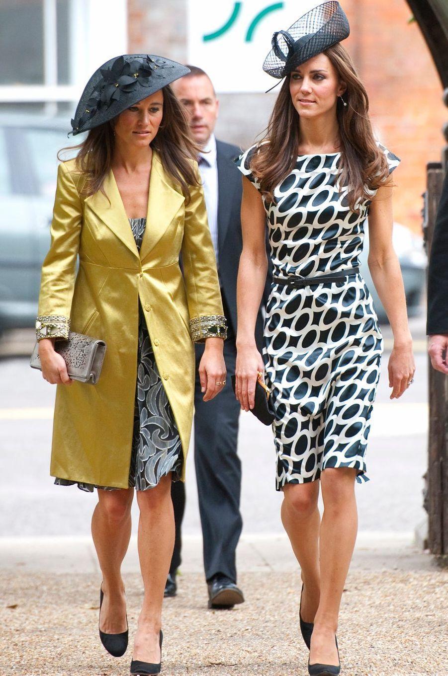 Pippa Middleton avec Kate le 11 juin 2011