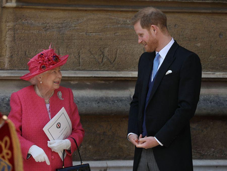La reine Elizabeth II et le prince Harry à Windsor le 18 mai 2019