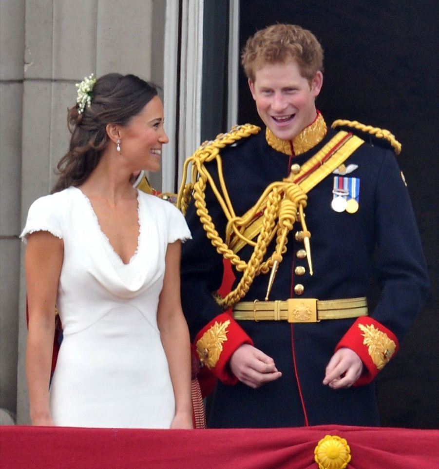 Pippa Middleton et le prince Harry, le 29 avril 2011