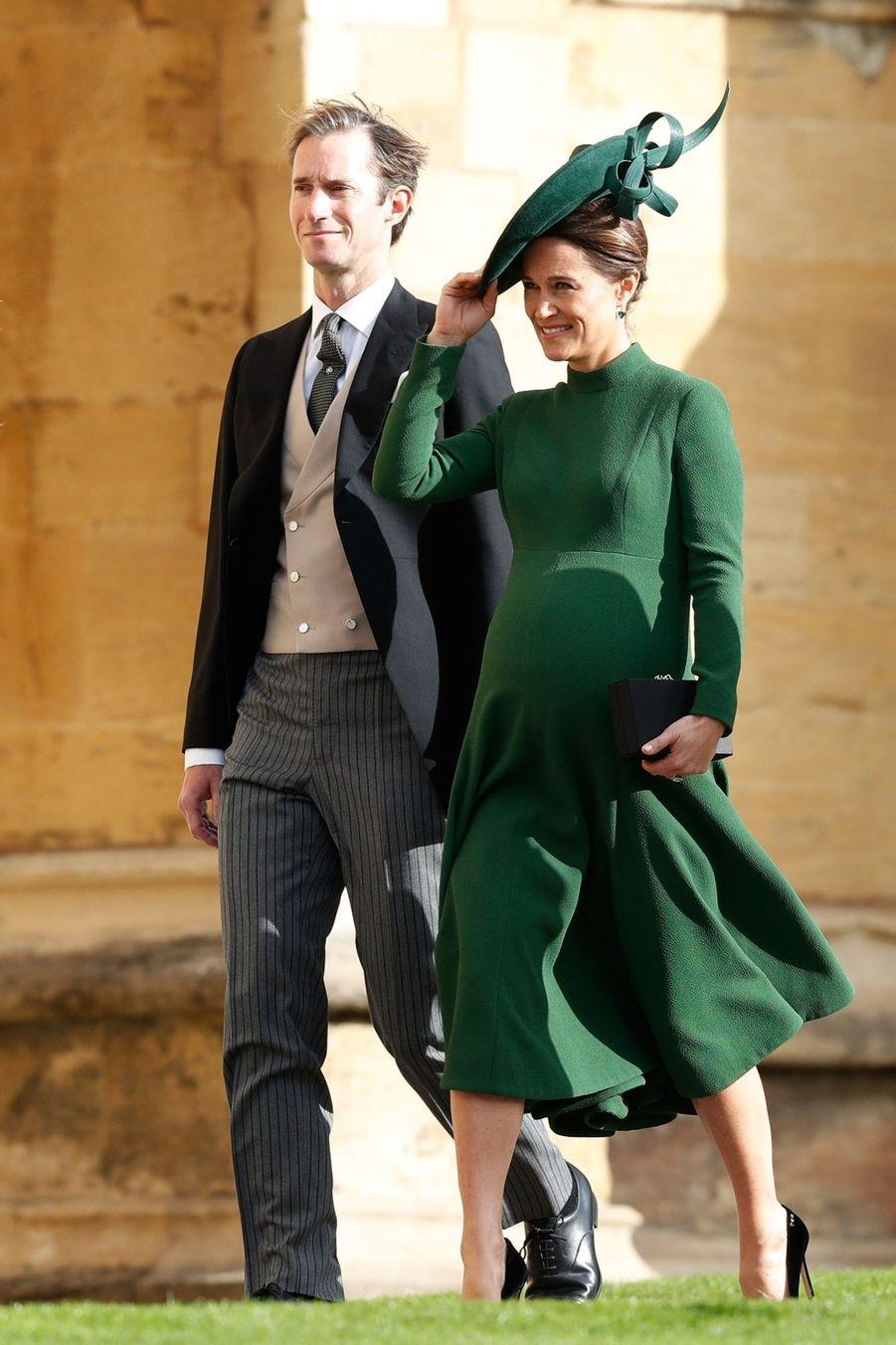 Pippa Middleton Très Enceinte Au Mariage De La Princesse Eugenie D'York ( 1