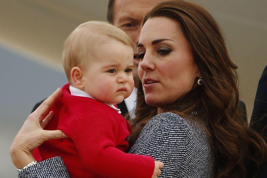 George en Australie avec sa mère, en 2014.