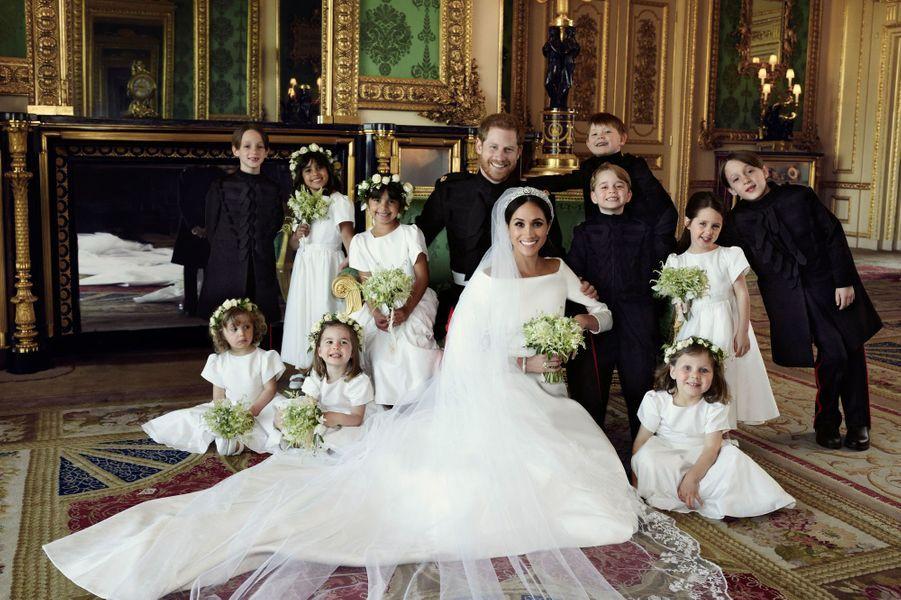 L'une des photos officielles du mariage de Meghan Markle et du prince Harry en mai 2018.