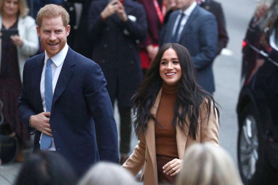 Meghan Markle et le prince Harryvisitent la Maison du Canada à Londres le 7 janvier 2020