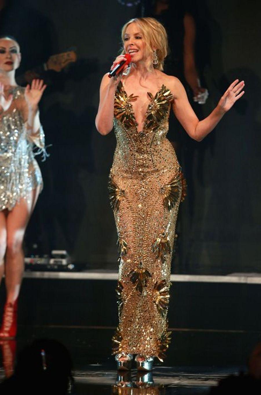 Kylie Minogue à Londres, le 4 février 2016
