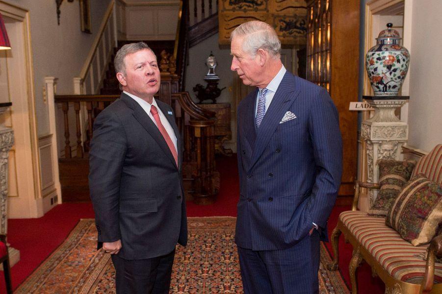 Le prince Charles avec le roi Abdallah II de Jordanie à Londres, le 4 février 2016