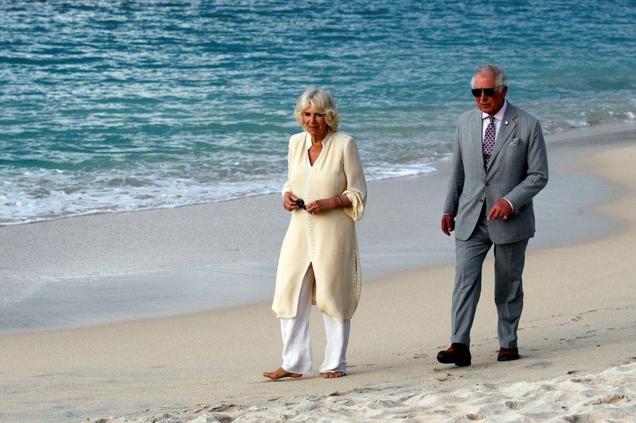 Le prince Charles et la duchesse de Cornouailles Camilla à Grenade, le 23 mars 2019