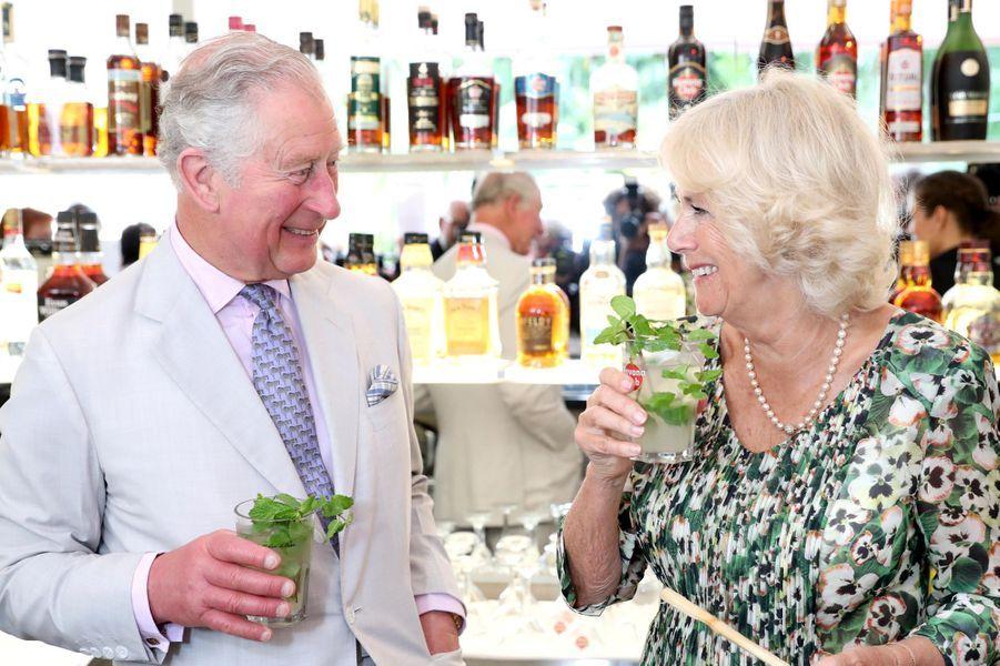 Le prince Charles et la duchesse de Cornouailles Camilla à Cuba, le 27 mars 2019