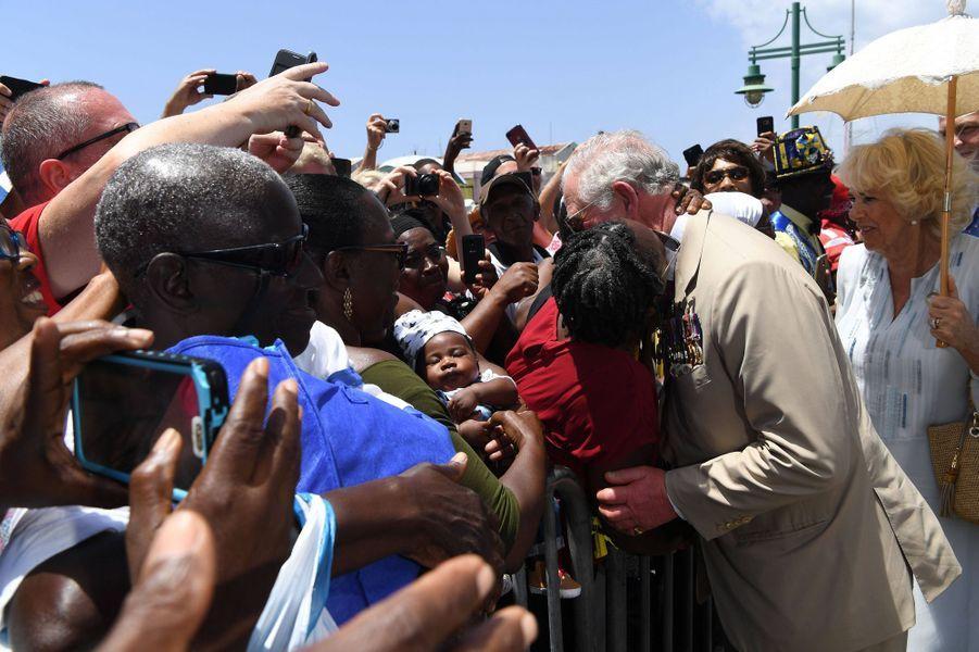 Le prince Charles à La Barbade, le 19 mars 2019