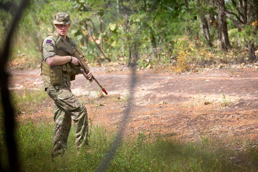 Le prince Harry en exercice à Darwin, le 15 avril 2015
