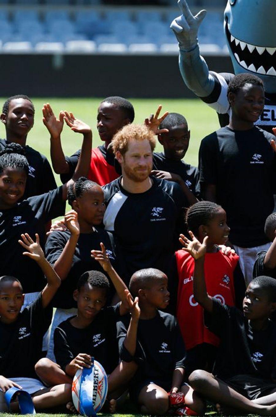 Le prince Harry à Durban, le 1er décembre 2015