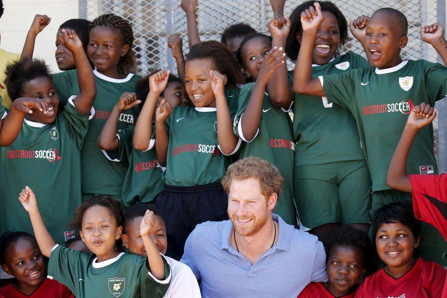 Le prince Harry au Cap, le 30 novembre 2015
