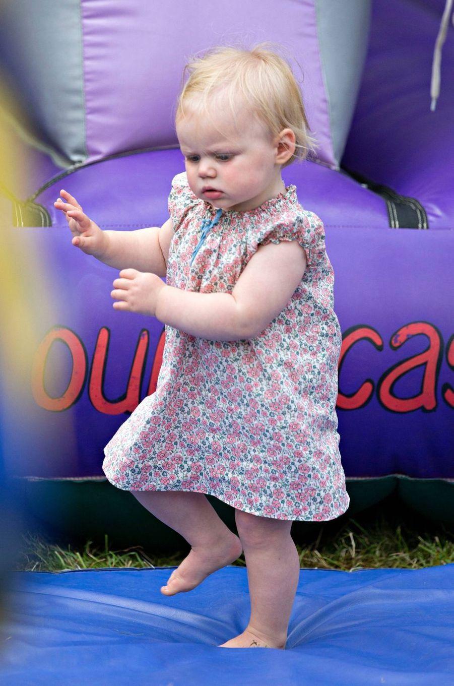 La petite Lena Tindall à Gatcombe Park, le 2 août 2019