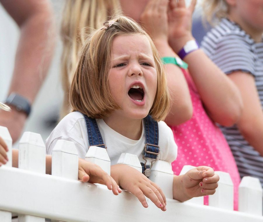 Mia Tindall à Gatcombe Park, le 4 août 2019