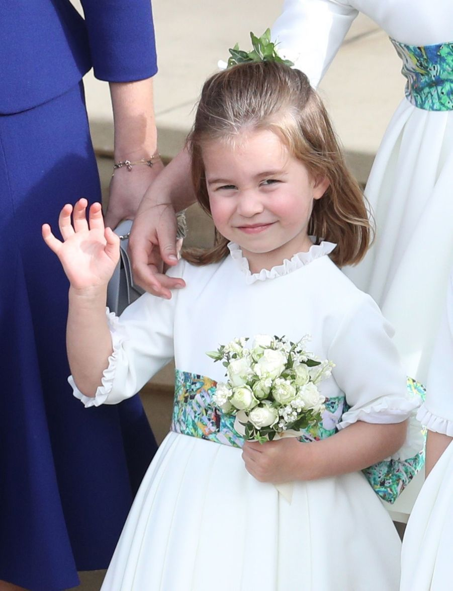 La princesse Charlotte, demoiselle d'honneur au mariage de la princesse Eugenie d'York