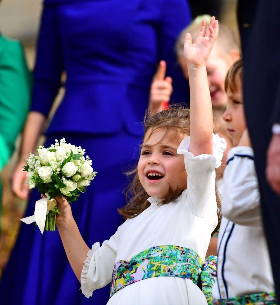 Demoiselles et garçons d'honneur au mariage de la princesse Eugenie d'York