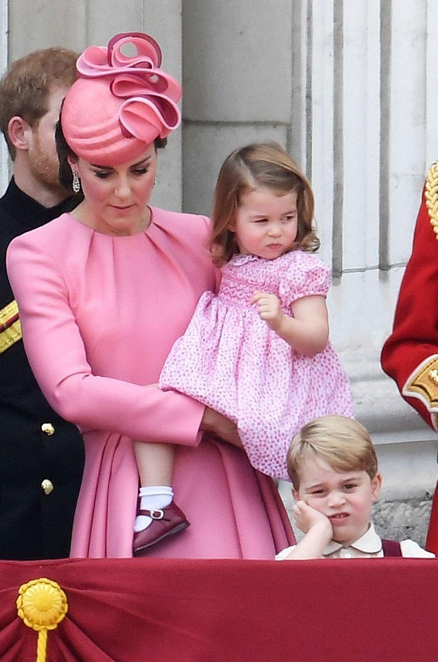 La princesse Charlotte de Cambridge à Londres, le 17 juin 2017