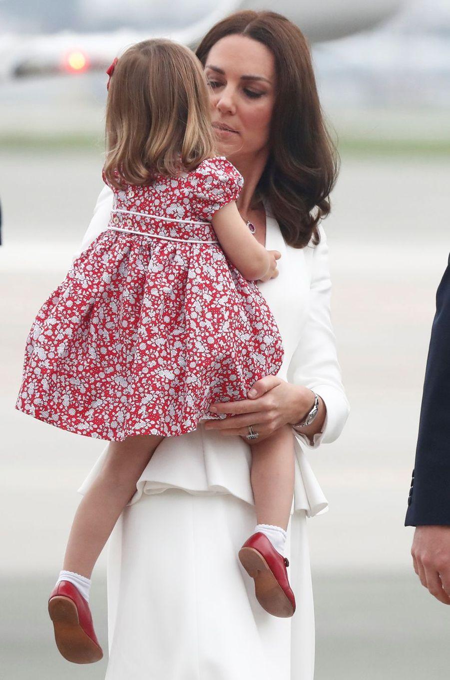 La princesse Charlotte de Cambridge à Varsovie, le 17 juillet 2017