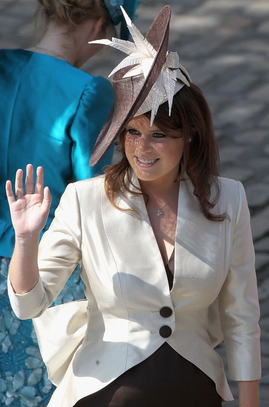 Le chapeau de la princesse Eugenie d'York, le 30 juillet 2011