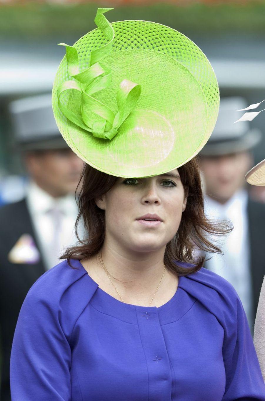 Le chapeau de la princesse Eugenie d'York, le 16 juin 2009