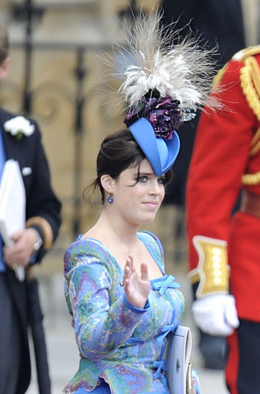 Le chapeau de la princesse Eugenie d'York, le 29 avril 2011