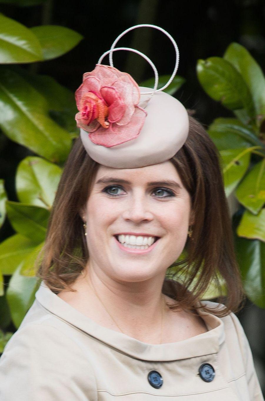 Le chapeau de la princesse Eugenie d'York, le 16 avril 2017