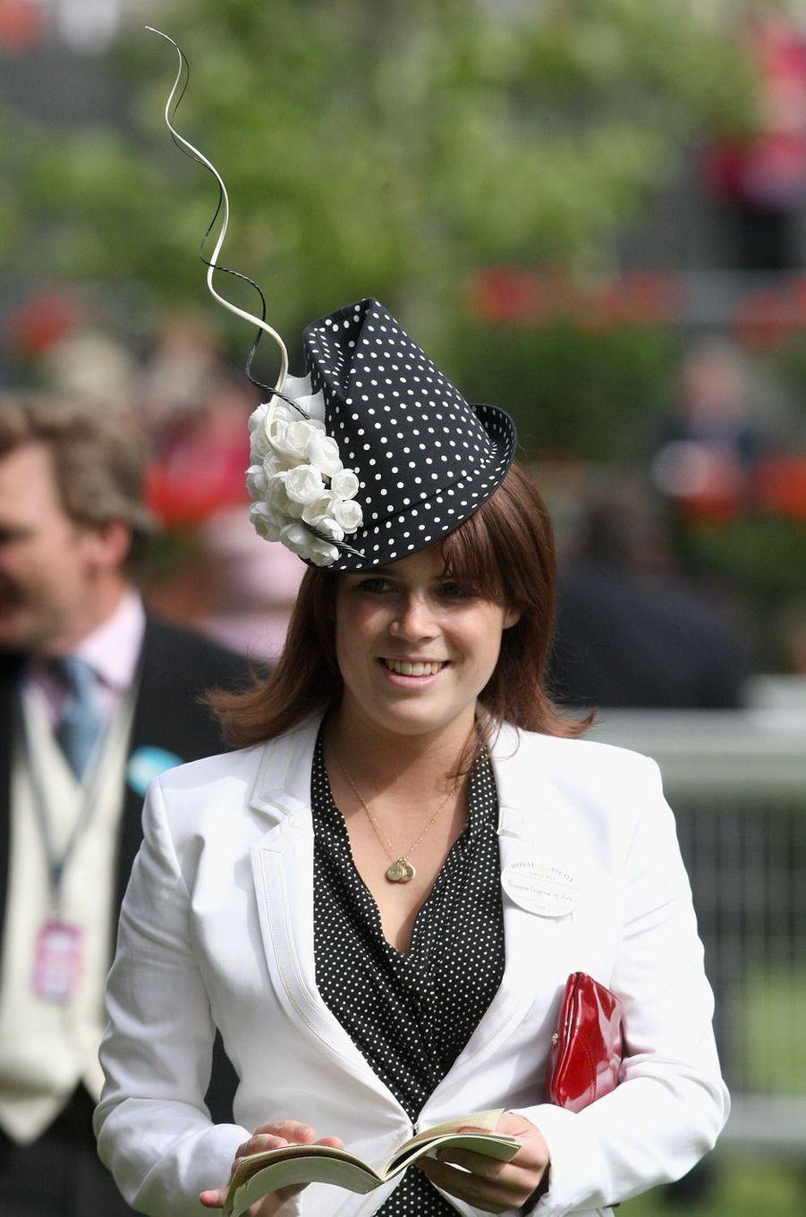 Le chapeau de la princesse Eugenie d'York, le 19 juin 2009