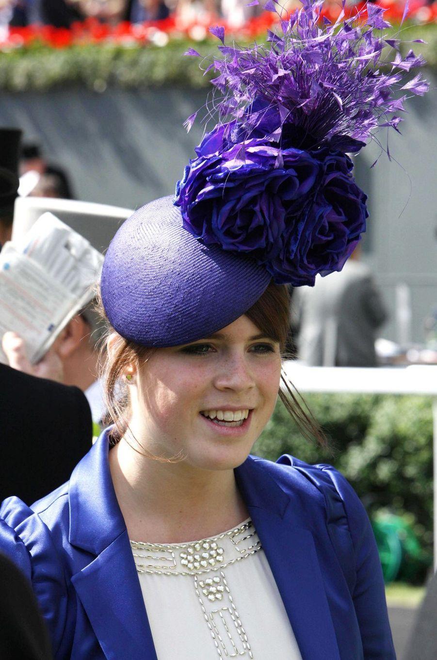 Le chapeau de la princesse Eugenie d'York, le 17 juin 2008
