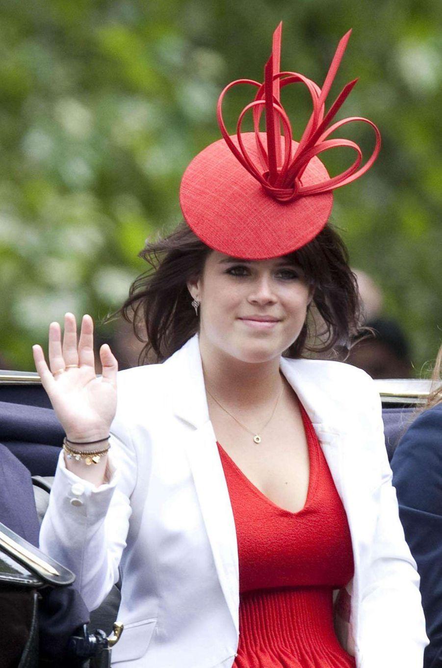 Le chapeau de la princesse Eugenie d'York, le 12 juin 2010