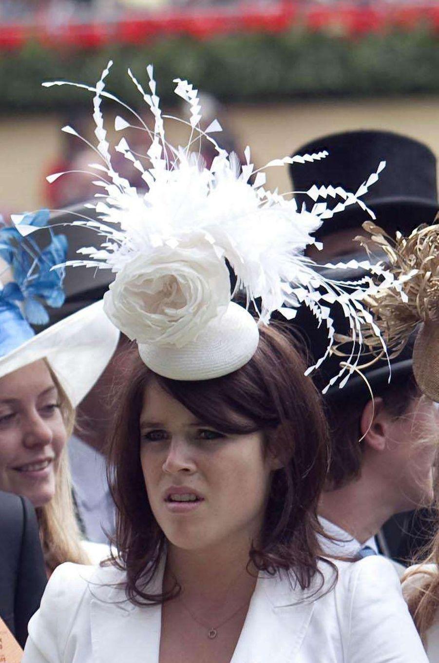 Le chapeau de la princesse Eugenie d'York, le 19 juin 2010