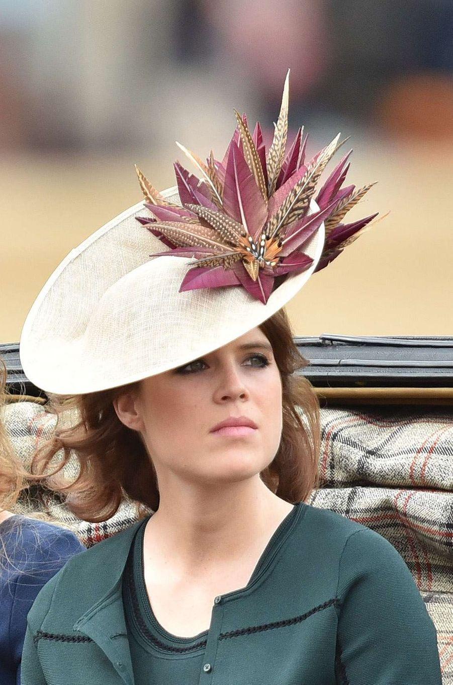 Le chapeau de la princesse Eugenie d'York, le 11 juin 2016