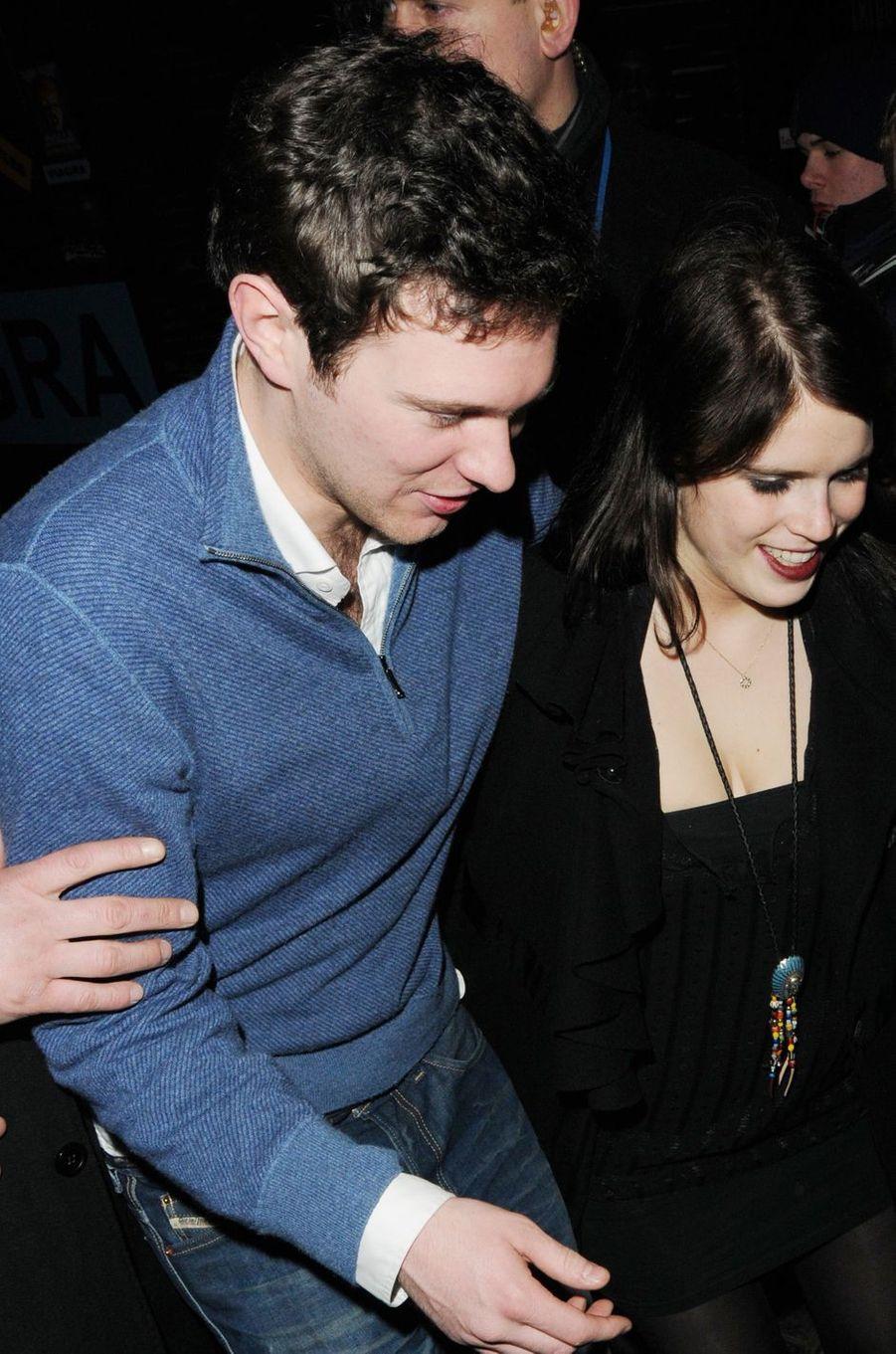 La princesse Eugenie d'York et Jack Brooksbank, le 5 mars 2011