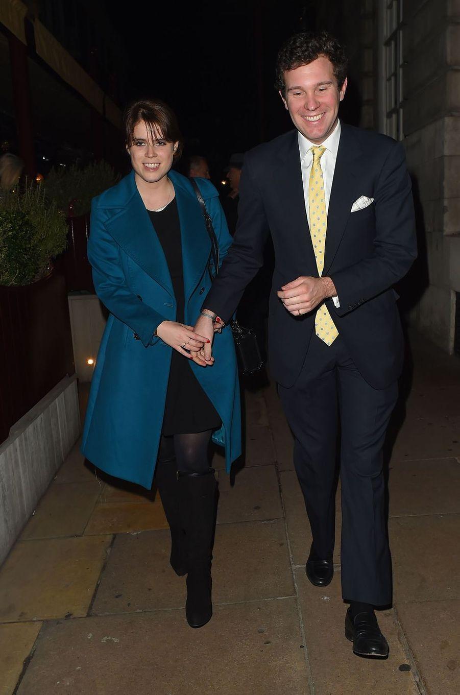 La princesse Eugenie d'York et Jack Brooksbank, le 7 décembre 2016