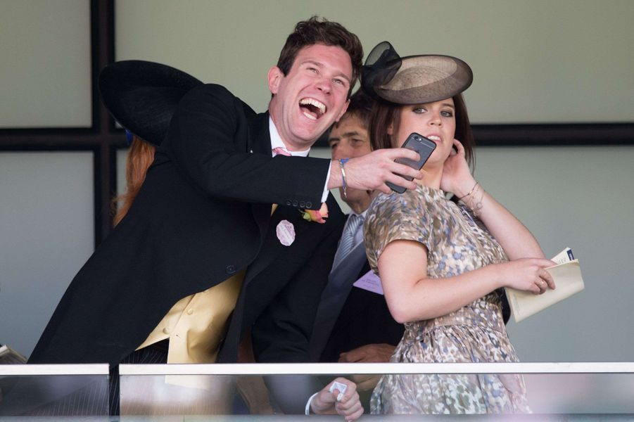 La princesse Eugenie d'York et Jack Brooksbank, le 19 juin 2015
