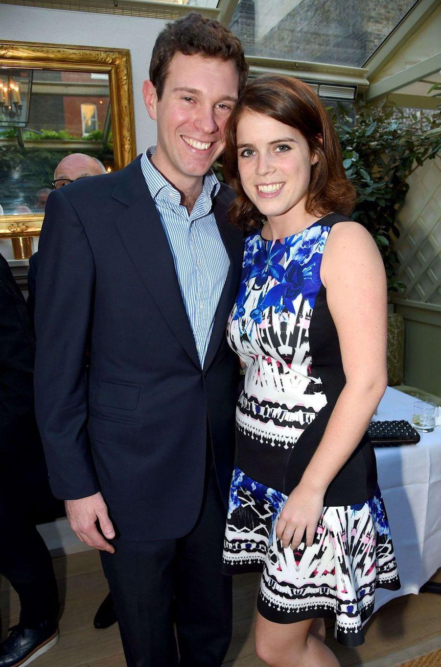La princesse Eugenie d'York et Jack Brooksbank, le 3 juillet 2014