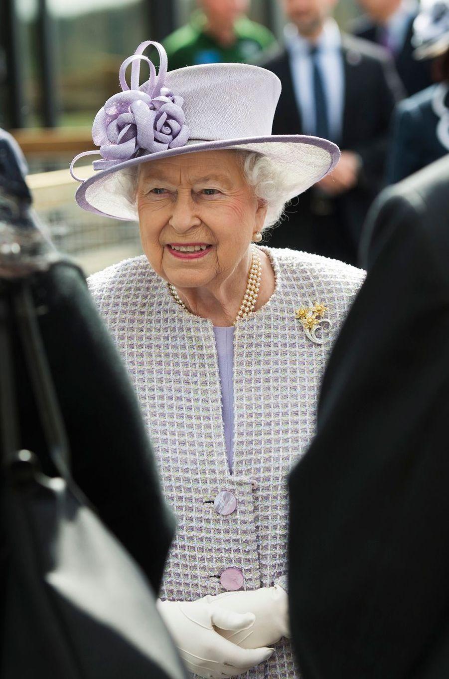 La reine Elizabeth II à Dunstable, le 11 avril 2017
