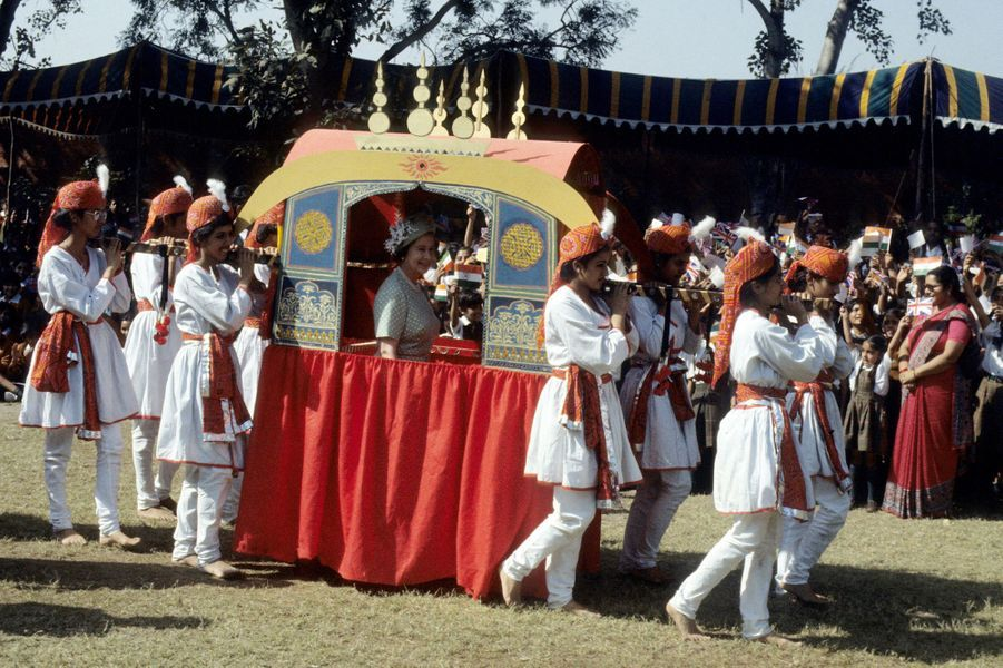La reine Elizabeth II à New Delhi, le 18 novembre 1983