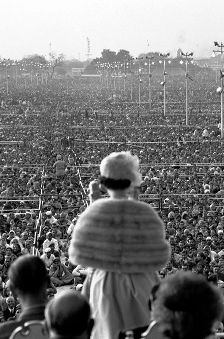 La reine Elizabeth II à Old Delhi, le 28 janvier 1961