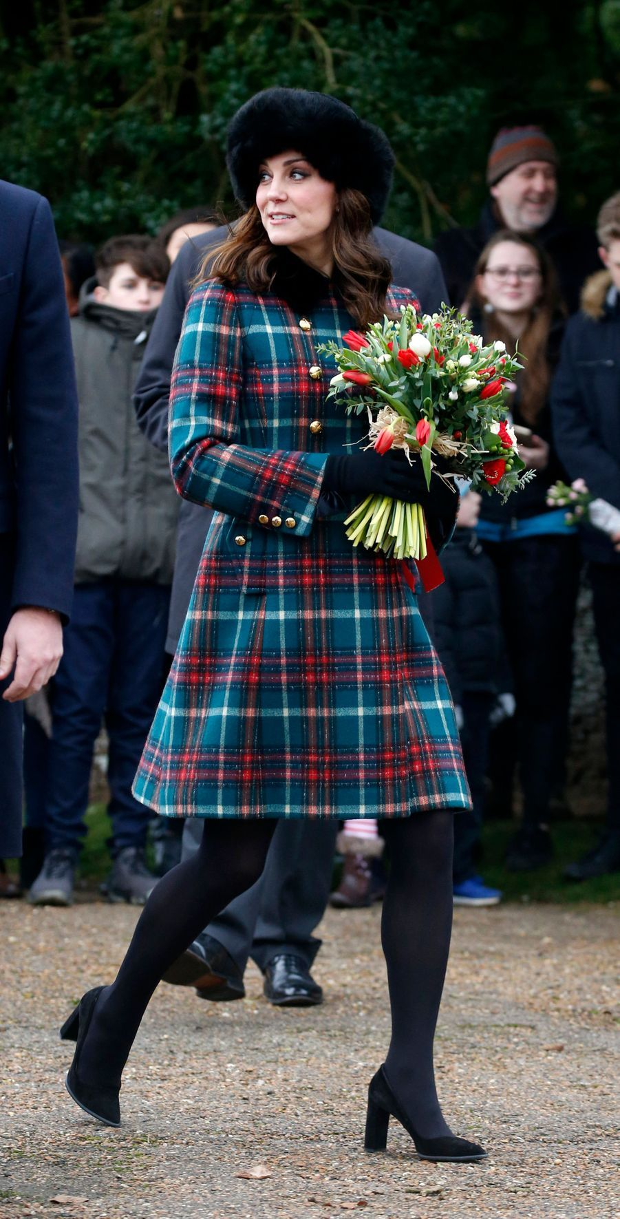 La duchesse Catherine de Cambridge à Sandringham, le 25 décembre 2017