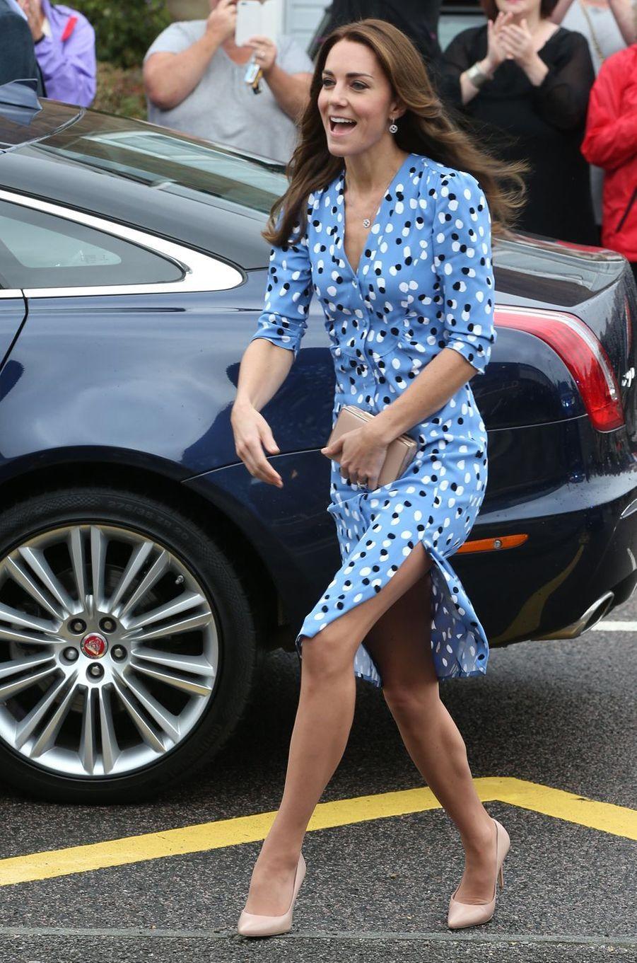 La duchesse Catherine de Cambridge en Altuzarra à Londres, le 16 septembre 2016