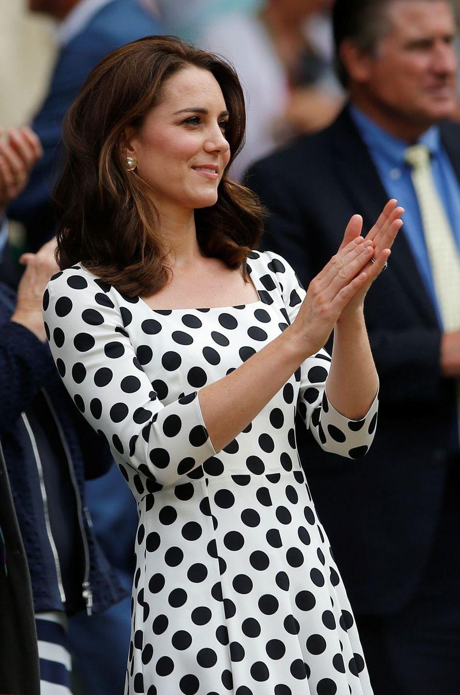 La duchesse Catherine de Cambridge à Wimbledon, le 3 juillet 2017
