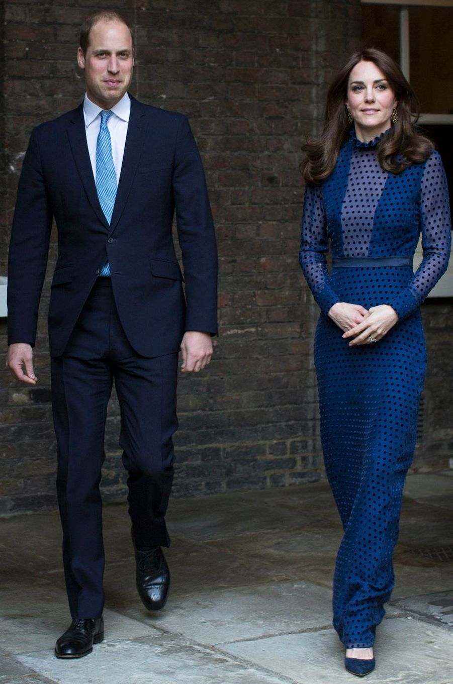 La duchesse Catherine de Cambridge en Saloni à Londres, le 6 avril 2016