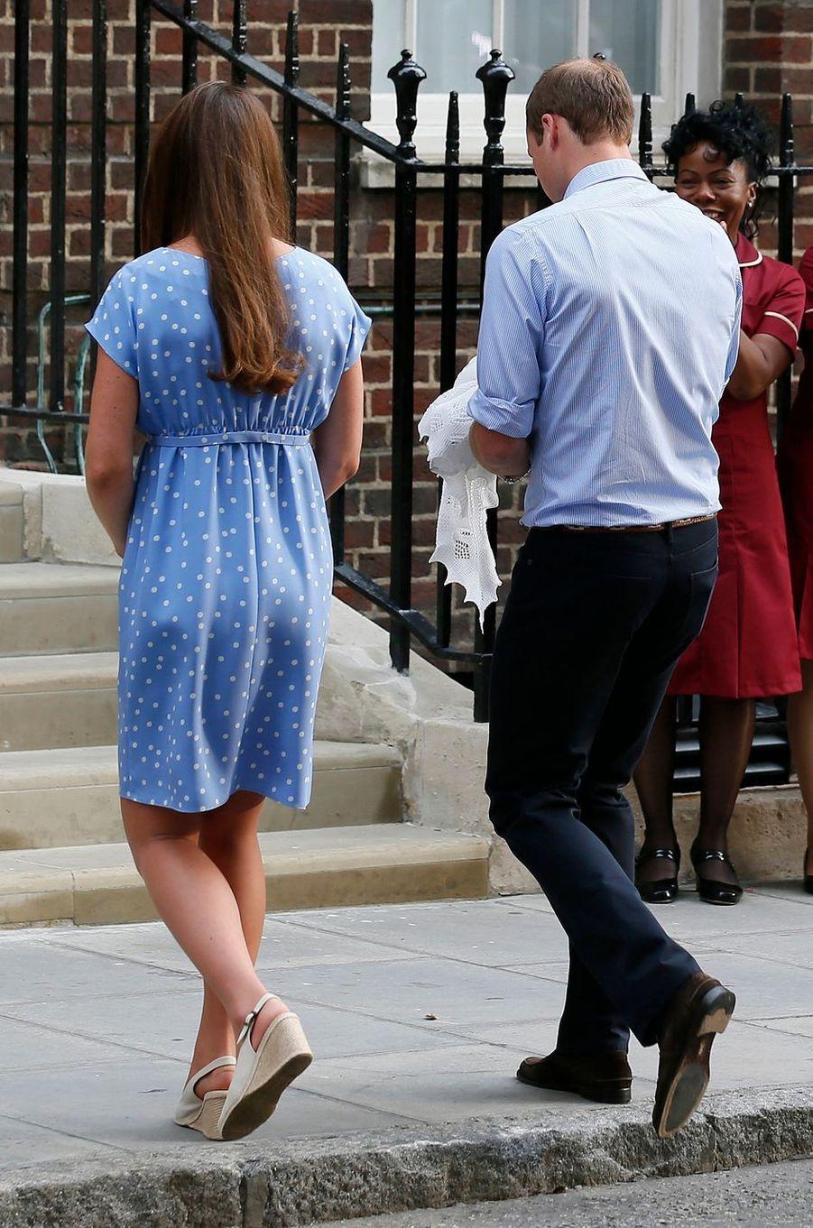 La duchesse Catherine de Cambridge à Londres, le 23 juillet 2013
